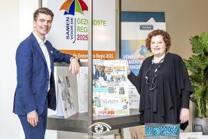 Angelique Jansen-Swinkels en Edwin de Bruijn, Directie Rabobank Horst -Venray